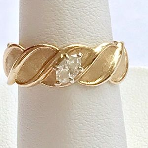 Jewelry - 1/4 carat marquis diamond 14 kt yellow gold band